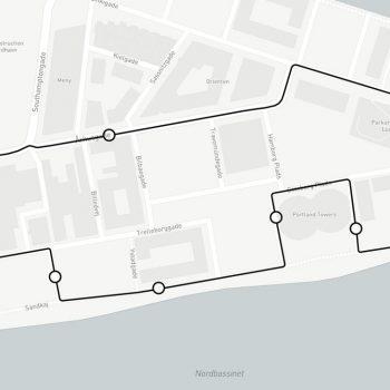 selvkørende-bus-nordhavn-rute